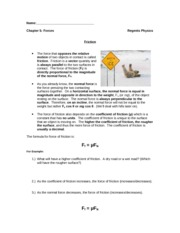 force notes 3- friction