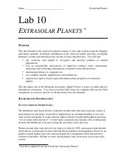 exoplanets lecture series