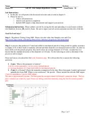 Lab 10 - One Sample Hypothesis Testing key