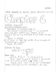 Econometrics Chapter 6 notes