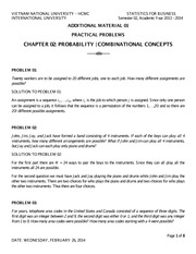 STATISTICS SPRING 2014 - ADDITIONAL MATERIAL 01 - CHAP2 COMBINATIONAL CONCEPTS