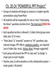 Chapter 20 through 24 ttt in PPT pptx - Ch 20-24 POWERFUL PPT