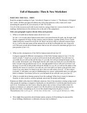 CWV 101 Week 3 Assignment Fall of Humanity Then and Now Worksheet.docx
