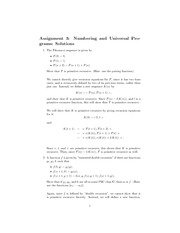 CPSC 513 Fall 2010 Assignment 3 Solutions