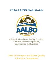 2016 AALSO Field Guide