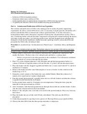 DNA Isolation Procedure and Worksheet F16