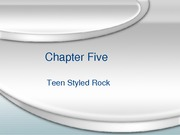 MHL 153 - Chap 5, Teen-Styled Rock