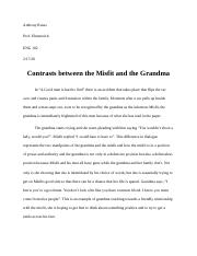 ENG 102 - Contrasts between the Misfit and the grandma Part 2.docx