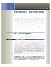 3 Introduction to Linear Programming