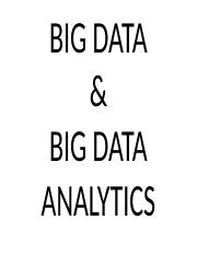 5. Big Data Analytics