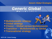5 Generic Global Business Strategy