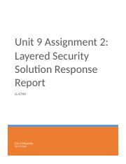 Unit 9 Assignment 2 - Layered Security Solution Response Report (1)