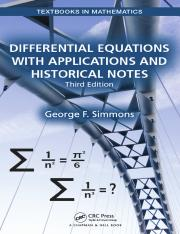 Simmons, George Finlay-Differential equations with applications and historical notes-Chapman and Hal