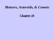 Chapter10.Meteors, Asteroids, & Comets