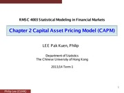 Chapter 2 Capital Asset Pricing Model