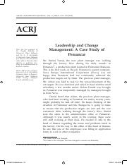 Leadership and Change Management - A Case Study of Pemancar (1)