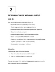 2. Topic 2  - Determination of National Output (A & B(2) (1)