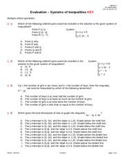 Evaluation System of Inequalities PI KEY