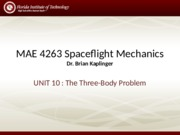 Lecture - Three Body Problem