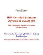IBM C9530-404 Exam Practice tests for Guaranteed Success.pdf