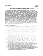 ECON HIST 379, S Law and American Capitalism, F 2014
