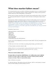 Econ#2_What does market failure mean? And the reasons.docx