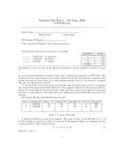 STAT 231 Test 1 exam and solutions 2008 June