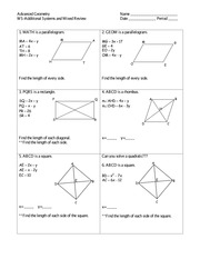 unit 7 homework 4 rhombi and squares