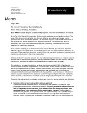 MBA_Projects and Internship Reports Defenses procedure 2014-1