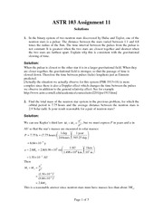 ASTR 103 Fall 2012 Assignment 11 Solutions