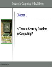 Chapter 1 - Is There a Security Problem.ppt