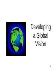 Developing a Global Vision].ppt