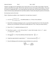Advanced Calculus  Test 2 2013