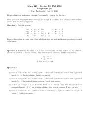Assignment _3 -Math 125 -Section B1 -  Fall 2016