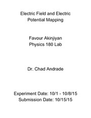 Physics 2 - Electric field mapping lab