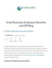 6 Types of Health Insurance Plans