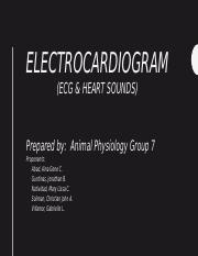 Group 7- ECG and Heart sounds.pptx