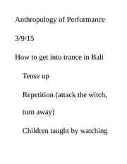 Anthropology of Performance_Dossier explination