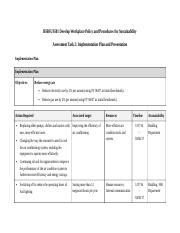 BSBSUS501 Develop Workplace Policy  and Procedures for Sustainability - Task 2 - PNook
