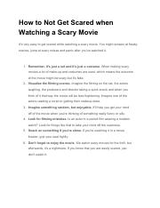 How to Not Get Scared when Watching a Scary Movie.pdf