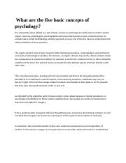 basic concepts of psychology