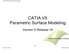 CATIA-V5 - INDEX 1 Intoduction 1 1 Solid Modeling 1 2