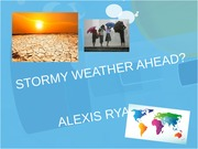 Student Presentation on Climate Change and Extreme Weather Patterns
