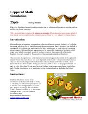 Peppered Moth Simulation evolution lab - Peppered Moth ...