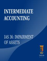 International Accounting Standard 36-Impairment of Assets  Revised 2011 08 23