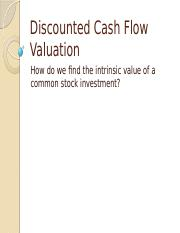 Discounted Free Cash Flow Valuation.pptx