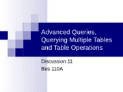 Discussion 11 - Multitable Queries Operations