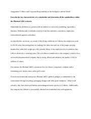 Legal Assignment 3 Ethics and Corporate Responsibility in the Workplace and the World.docx