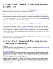 Domain 3.0  Operating Systems