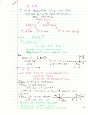 Chapter 4.4 Notes - Absolute Max and Min